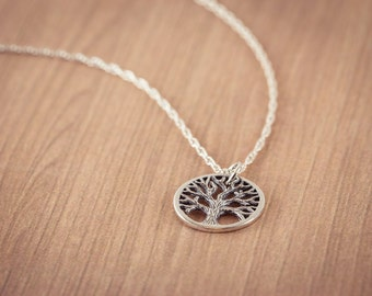 SALE! Tree of Life Necklace, Chain - Tree of Life Pendant, Silver Necklace, Sterling Silver, Tree of Life Charm