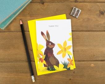 Thank You - Rabbit Greetings Card