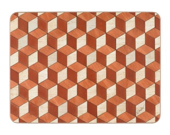 6 orange ivory Place mats Terracotta Ivory Placemat Melamine Heat Resistant 160 table mat Anniversary Gift mothers day gift FREE UK Shipping