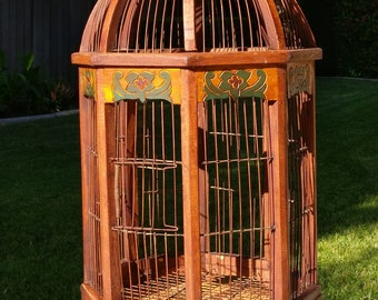 Wooden Victorian-styled birdcage, local pick up only