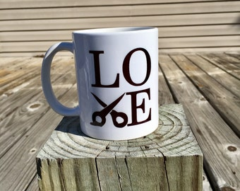 love coffee mug - hairstylist