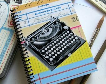 Typewriter Notebook A6 Spiral Bound