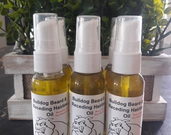 Bulldog Beard And Receding Hairline Oil /For Men/ Mustache Growth/ Hair Growth Bald Spots Potent Proven Order Today