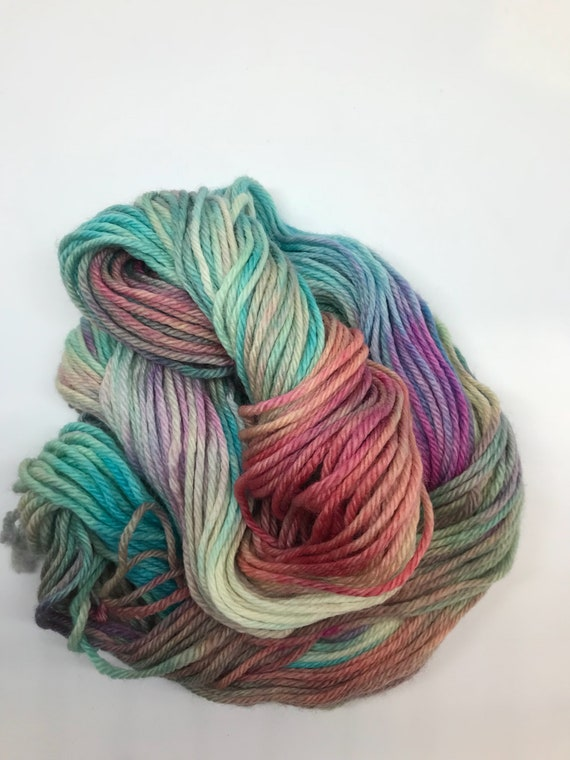 Dreamer - 50g 100% Superwash Merino DK double knit yarn, hand dyed in Scotland, variegated, teal, pink, purple