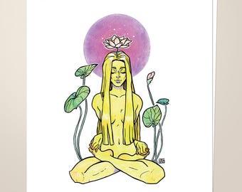 """Crown Chakra, 8.5""""x11"""" Art Print"""