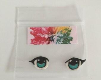 Amigurumi doll eyes, hand painted doll eyes, 8 mm doll eyes