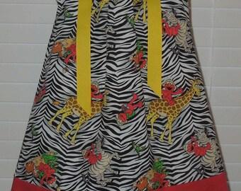 Boutique pillowcase dress featurning Elmo on Giraffes & Zebras :CH051