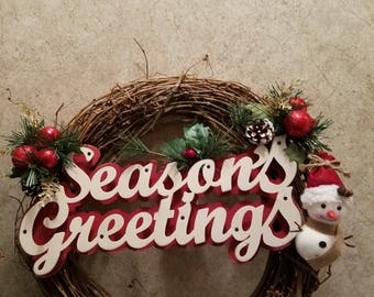 Seasons greeting wreath