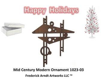1023-3 Mid Century Modern Christmas Ornament