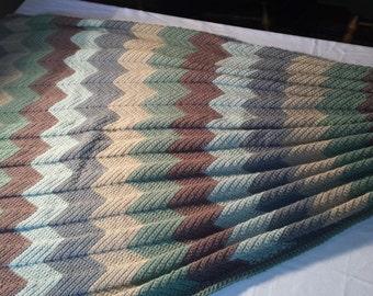 Crocheted Ripple Afghan in Plymouth Encore yarn