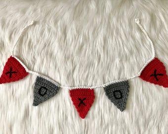 XOXOX Crochet Bunting