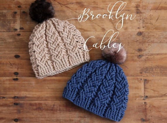 Crochet Cable Pattern Brooklyn Cables Beanie