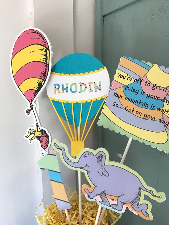 Oh, The Places You'll Go Centerpiece/ Cake Topper