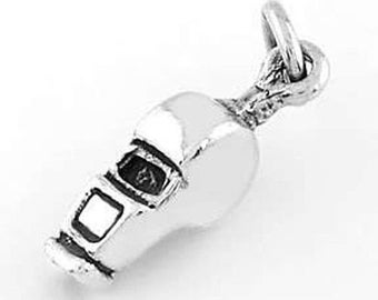 Sterling Silver Whistle Charm (3d Charm)