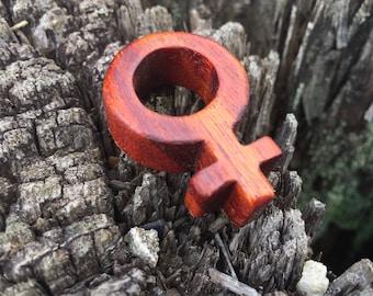 Women's Symbol Necklace - large Cherry Venus