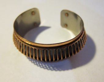 Cool 1970s Copper Bracelet