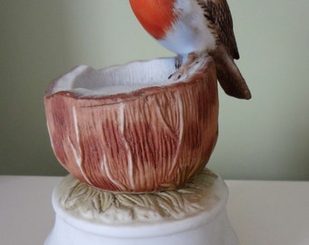 J.B.G. Music Box Porcelain Music Box Bird Polonaise Oginski