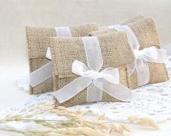 SET OF 250 Burlap favor bags medium size