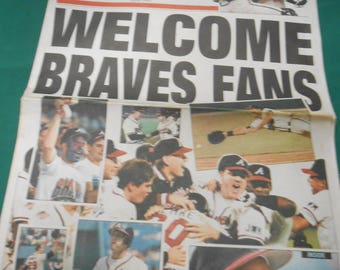DAILY NEWS April 1992 Welcome Braves Fans