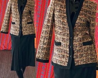 Lilli Ann Dress Suit Vintage 80s Tweed Wool Skirt Suit