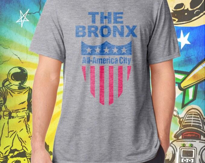 The Bronx / All America City / Men's Gray Performance T-Shirt