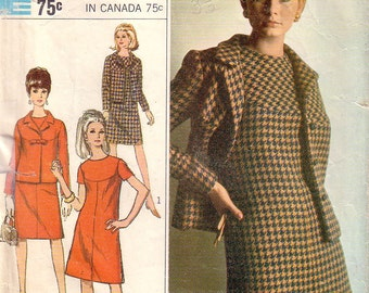 Vintage Simplicity 7264, Dress and Jacket, Sewing Pattern, Size 18
