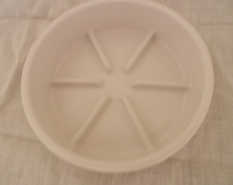 COORSTEK PORCELAIN LABWARE - Low dish with ridges/dividers
