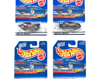 Hot Wheel Cars, Race Team Series IV Full Set, Race Cars, Toys, Birthday Gifts, Gifts for Kids