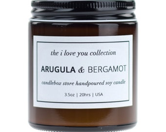 2 Pack Gift Set, Scented Soy Candle, Arugula and Bergamot Scent Candle with Fresh Pressed Zests and a Hint of Tangerine, CandleBox Store