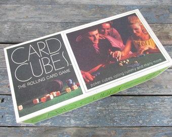 Card Cubes, Gambling Dice Rolling Card Game, Poker Game, Family Game Night, Casino Night