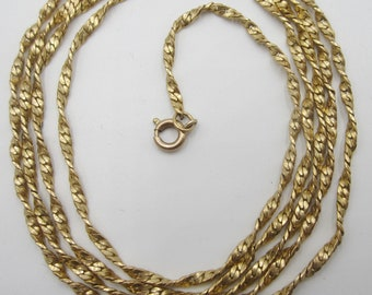 "Vintage 1970's gold filled chain 32"" L"