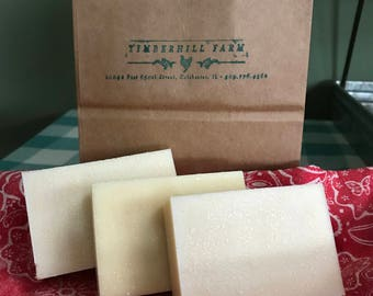 3 bars handcrafted goat milk soap