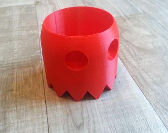3D Printed Ghost Pacman Desk Planter. Retro inspired art - Gift, Home Decor, Plant pot