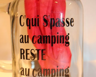 Camping camper c Spasse Camping rest in the summer Camping trailer tent personalized mason jar