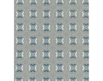 NEW!! - Cotton Fabric by the Yard - Fat Quarter Bundle - Quilt Fabric Bundle - Cotton + Steel - C5171-001 Panorama - Petal Dots - Fog