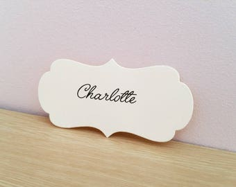 10 place cards wedding or baptism custom