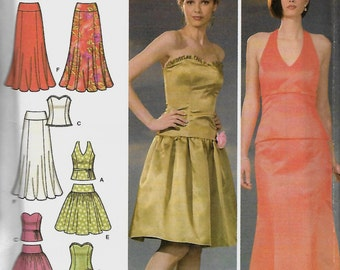 Simplicity 4580 Misses/Miss Petite Evening Tops And Skirts Pattern,  Size 6-12, UNCUT