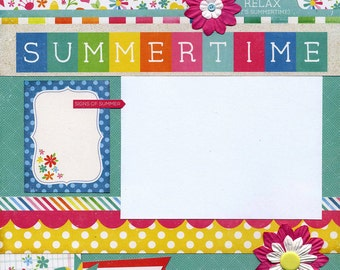 Summertime - 12x12 Premade Scrapbook Page