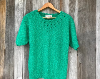 80s oversized sweater, vintage sweater, chunky knit, LargeFree Domestic Shipping