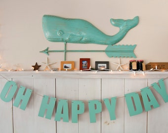 OH HAPPY DAY banner.