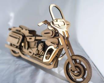 Harley Davidson Street Bike 3D Wooden Puzzle