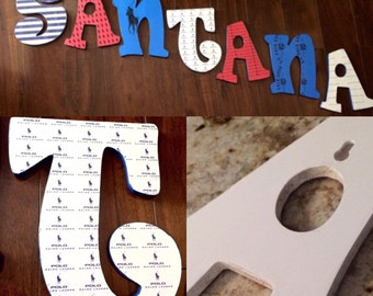 Polo Themed Nursery Letters