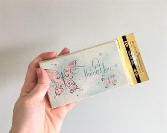 Vintage Buzza Cardozo Thank You Cards – Butterfly Design