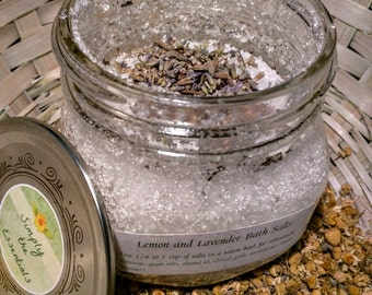 Lavender and Lemon Bath Salts