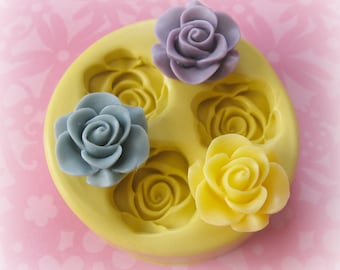 Silicone Rose Mold Fondant Mold Resin Mold Chocolate Flower Mould DIY Baking Polymer Clay