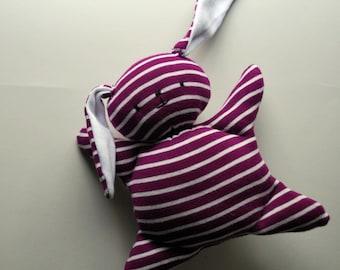 Purple Mooshy Belly Bunny - Upcycled - Rabbit - Plush Stuffed Animal - Baby Toy - Cuddly