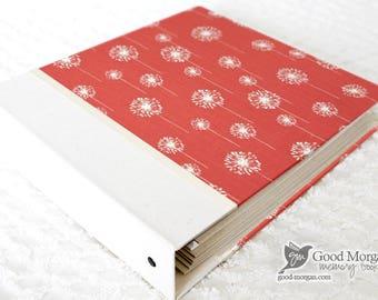 5 Year Baby Memory Book  - Coral Dandelions