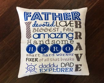 Father's Day pillow cover