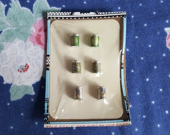 Miniature Dollhouse Beer Can Set Mini Bar Drinks Alcohol 1:12 Scale FS