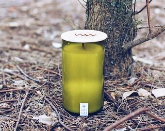 Bergamot + Tobacco Recycled Wine Bottle Candle
